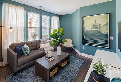 Bell Capitol Hill apartments living room